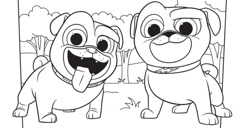 puppy dog pals colouring image