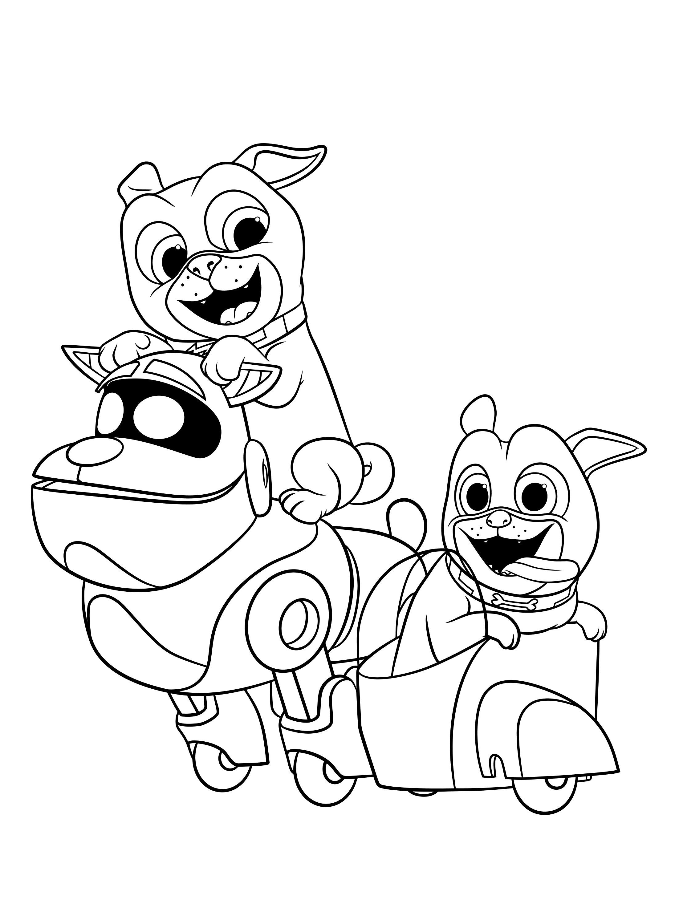 Puppy Dog Pals And Arf Colouring Image