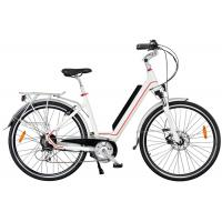 Ladies High End Electric Bike , Rear Wheel Motor And Pedal