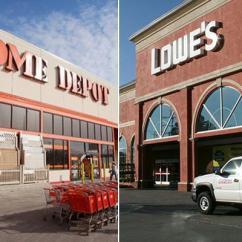 Lowes Kitchen Pantry Cart With Seating Home Depot Vs Lowe S 哪家更好 赢家一招制胜 洛杉矶华人工商 华人 数十年来 Depot和lowe S一直是家居装饰品的前两大商店