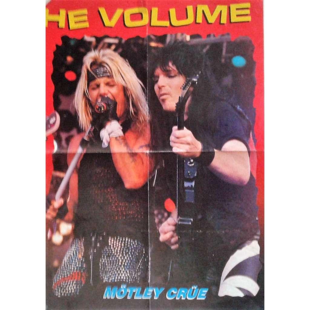 motley crue motley crue 1 italian 90s promo poster from metal magazine