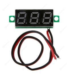 mini 0 28inch dc 2 5v 30v led digital battery voltage meter voltmeter panel [ 1001 x 1001 Pixel ]