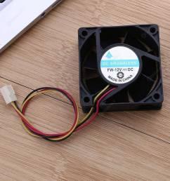 dc brushless cooling fan 12v 60x60x25mm 3 pin cpu computer fan [ 1001 x 1001 Pixel ]