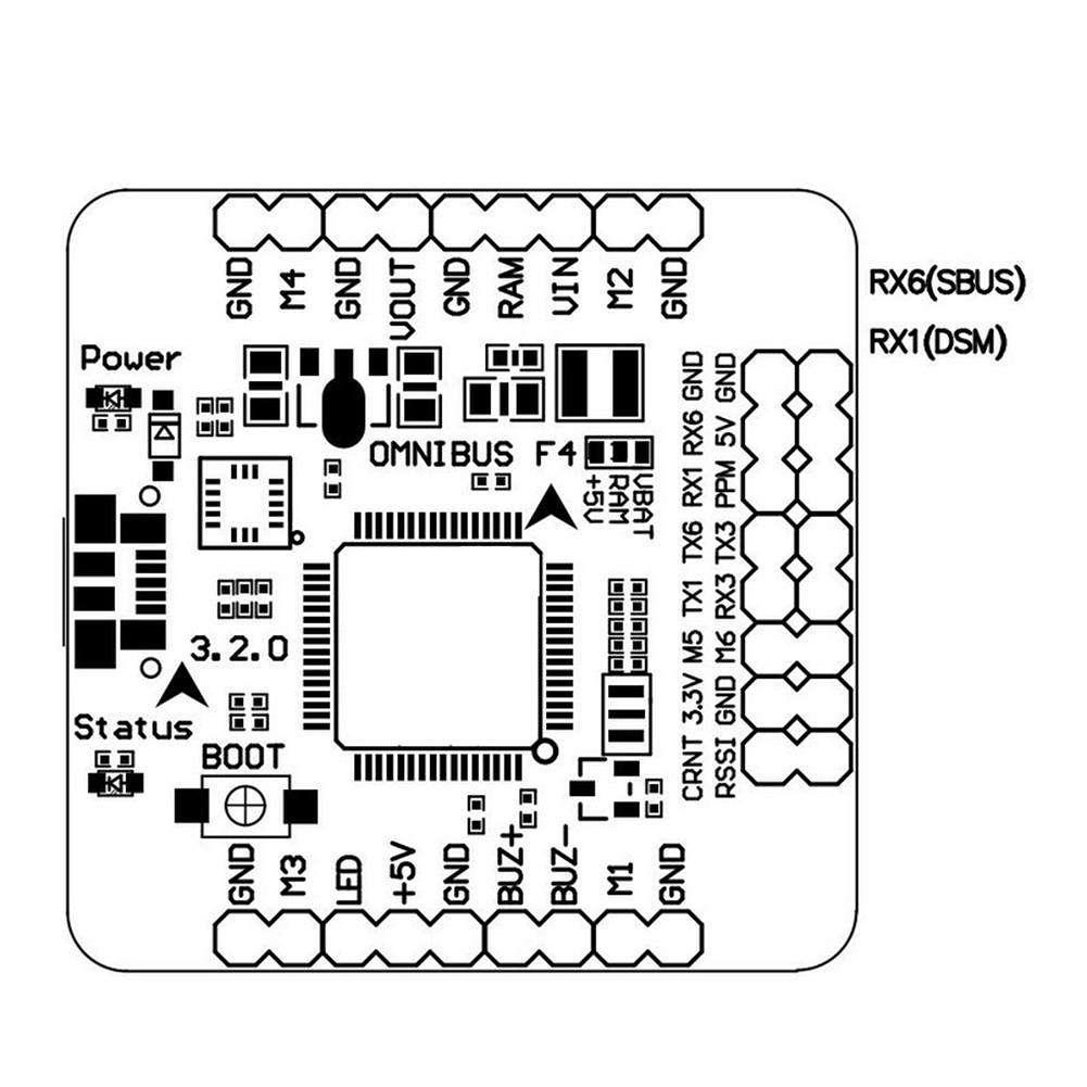 Omnibus F4 Pro Flight Controller Integrated OSD Board
