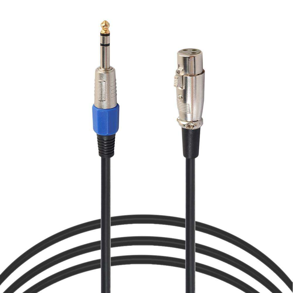1/4in Jack 3 Pin 6.35mm Stereo Male to XLR Female