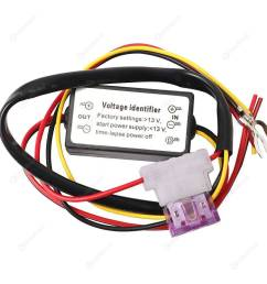 drl controller car auto led daytime running light relay harness dimmer  [ 1001 x 1001 Pixel ]