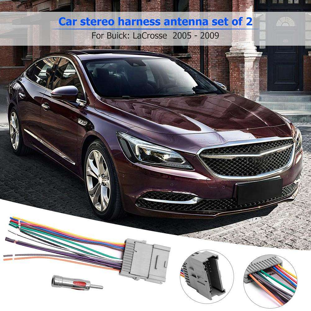 hight resolution of  car stereo radio wiring harness antenna combo for buick cadillac chevrolet