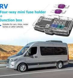 car audio stereo mini blade fuse holder distribution block 4 way fuse box  [ 1001 x 1001 Pixel ]