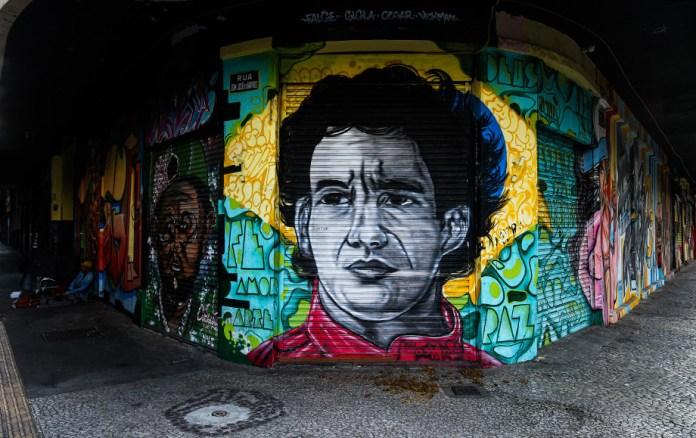 Граффити в Сан-Паулу, апрель 2020 года
