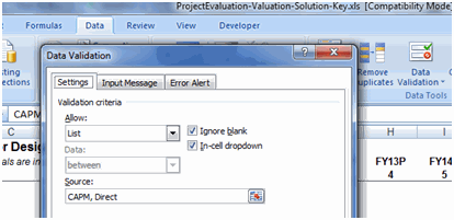 Data Validation Project Valuation Modeling