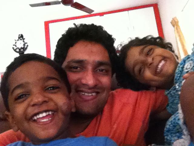 Nakshatra, Nishanth & Dad