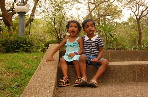 Nakshatra & Nishanth In a park in Bangkok