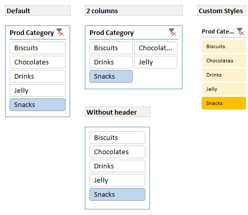 Slicer formatting - Demo