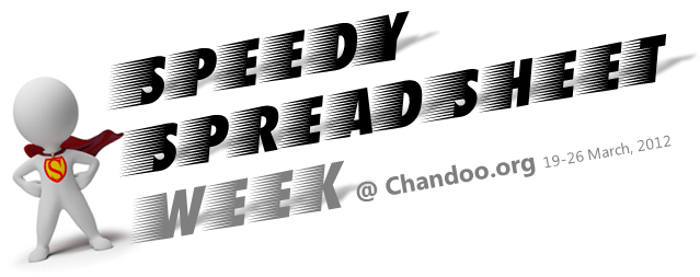 Speedy Spreadsheet Week on Chandoo.org