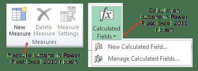 Creating a measure - Excel 2010 vs. Excel 2013