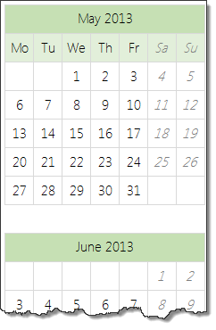 set up a blank calendar first - Interactive calendar