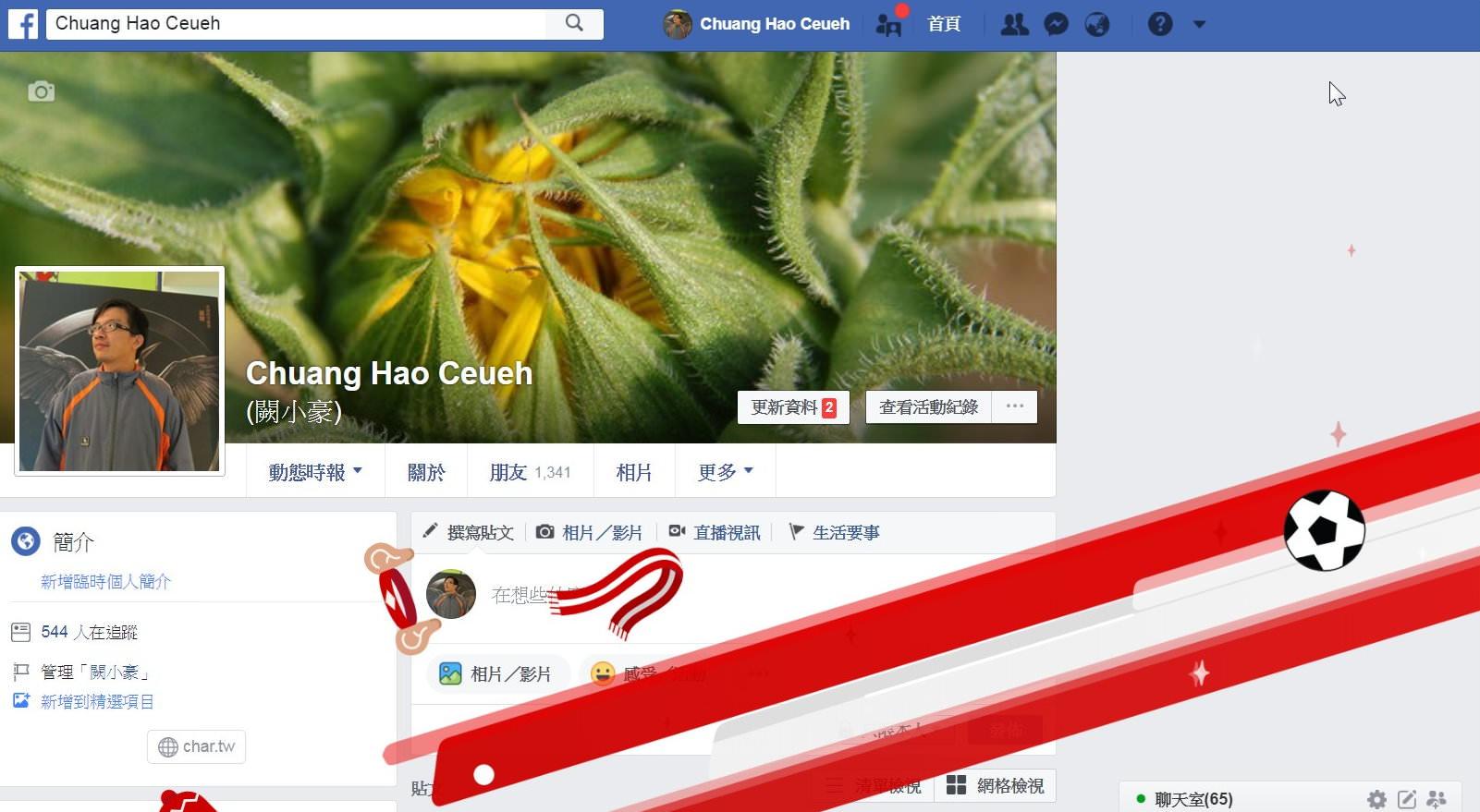 Facebook, 特殊動畫效果關鍵字, 2018年世界盃足球賽