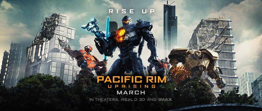 Movie, Pacific Rim: Uprising(美國) / 環太平洋2:起義時刻(台) / 环太平洋:雷霆再起(中) / 悍戰太平洋2:起義時空(港), 電影海報, 美國, 橫版