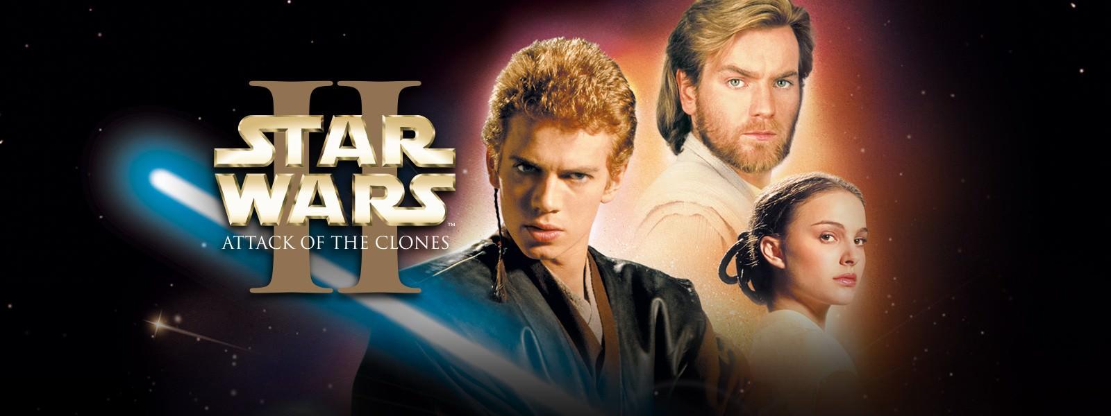 Movie, Star Wars Episode II: Attack of the Clones(美國, 2002) / 星際大戰二部曲:複製人全面進攻(台灣) / 星球大战前传:克隆人的进攻(中國) / 星球大戰前傳:複製人侵略(香港), 電影海報, 美國, 橫版