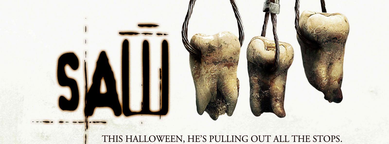 Movie, Saw III(美國, 2006年) / 奪魂鋸3(台灣) / 恐懼鬥室3:死神在齒(香港) / 电锯惊魂3(網路), 電影海報, 美國, 橫版