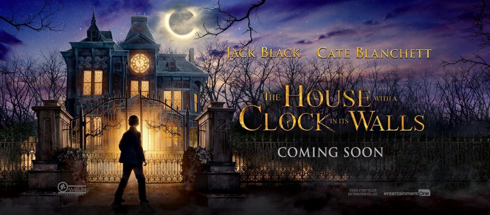 Movie, The House with a Clock in its Walls(美國, 2018年) / 滴答屋(台灣) / 魔鐘奇幻屋(香港), 電影海報, 美國, 橫版