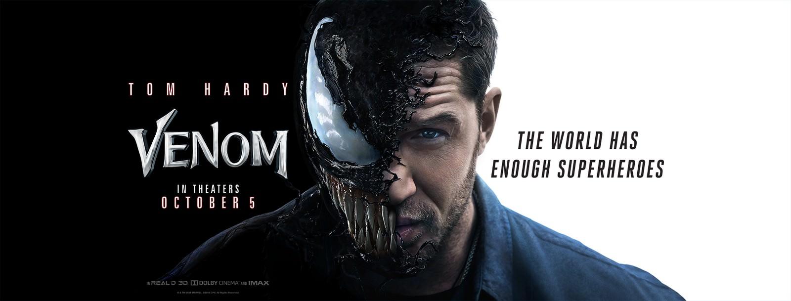 Movie, Venom(美國, 2018年) / 猛毒(台灣) / 毒液:致命守护者(中國) / 毒魔(香港), 電影海報, 美國, 橫版