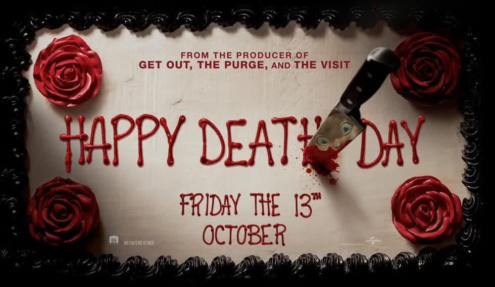 Movie, Happy Death Day(美國, 2017年) / 忌日快樂(台灣) / 忌日快乐(中國) / 死亡無限LOOP(香港), 電影海報, 美國, 橫版