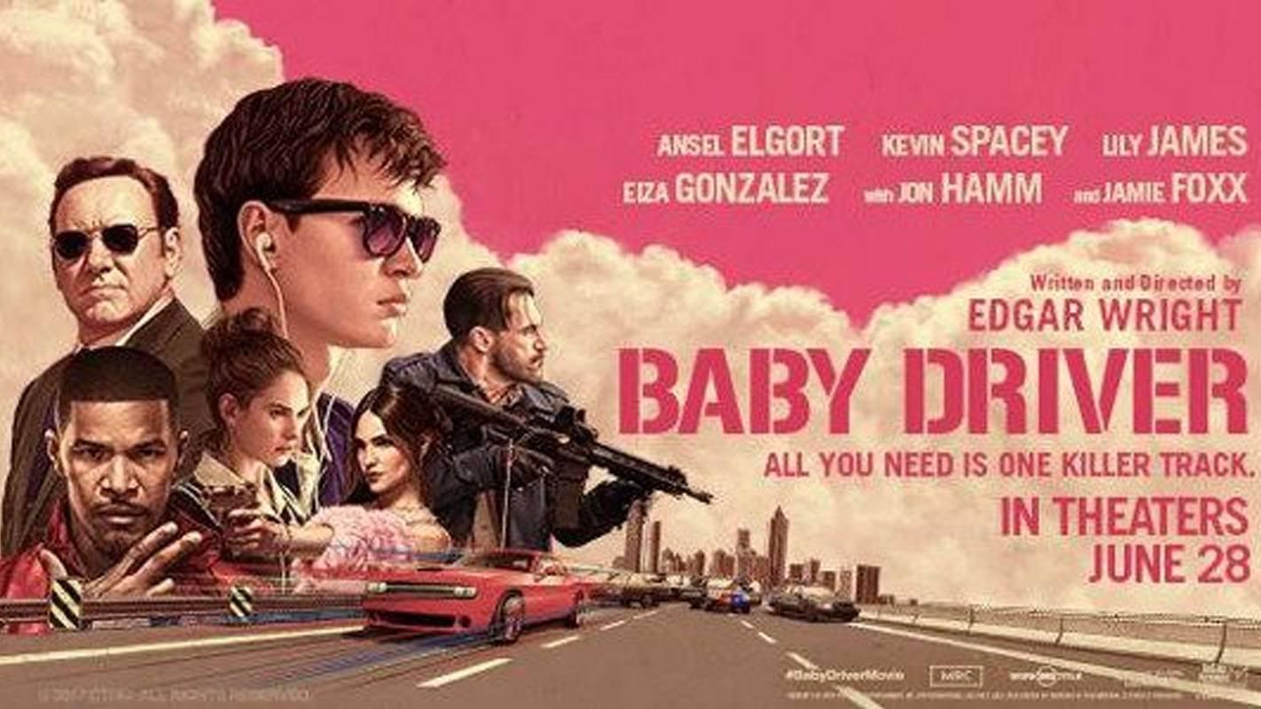 Movie, Baby Driver(美國, 2017年) / 玩命再劫(台灣) / 极盗车神(中國) / 寶貝車神(香港), 電影海報, 美國, 橫版