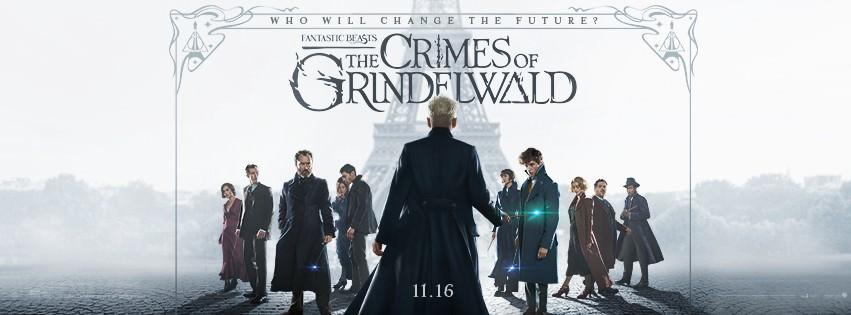 Movie, Fantastic Beasts: The Crimes of Grindelwald(美國, 2018年) / 怪獸與葛林戴華德的罪行(台灣) / 神奇动物:格林德沃之罪(中國) / 怪獸與葛林戴華德之罪(香港), 電影海報, 美國, 橫版