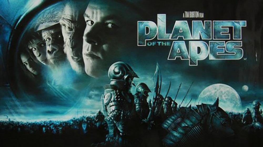 Movie, Planet of the Apes(美國, 2001年) / 決戰猩球(台灣) / 猿人爭霸戰(香港), 電影海報, 美國, 橫版