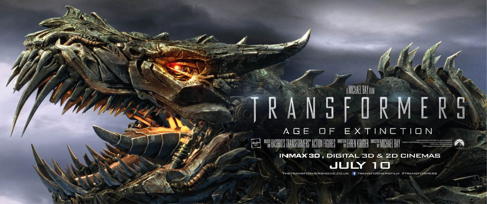 Movie, Transformers: Age of Extinction(美國, 2014年) / 變形金剛4:絕跡重生(台灣) / 变形金刚4:绝迹重生(中國) / 變形金剛:殲滅世紀(香港), 電影海報, 美國, 橫版