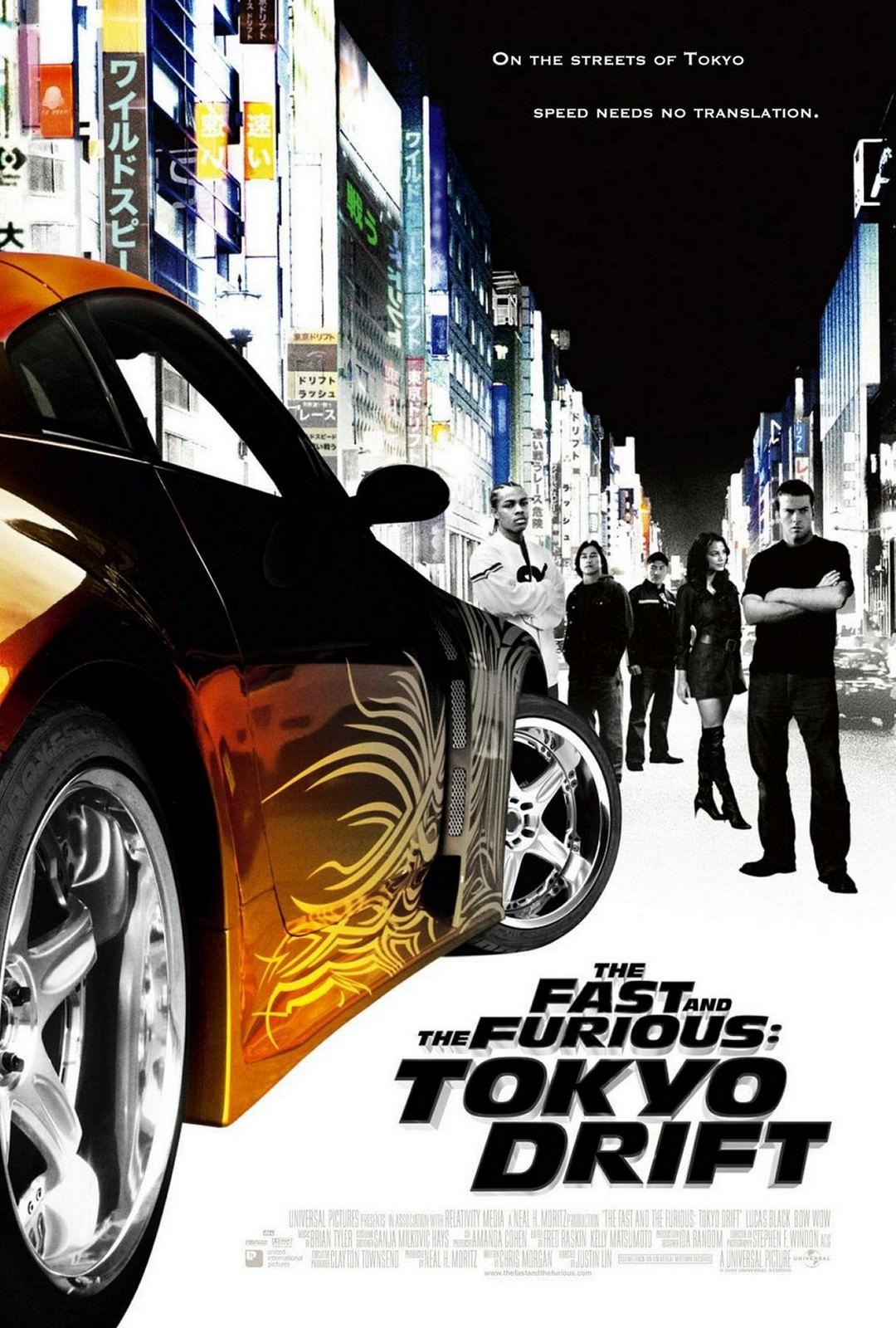 Movie, The Fast and the Furious: Tokyo Drift(美國, 2006年) / 玩命關頭3:東京甩尾(台灣) / 狂野極速:飄移東京(香港) / 速度与激情3:东京漂移(網路), 電影海報, 美國