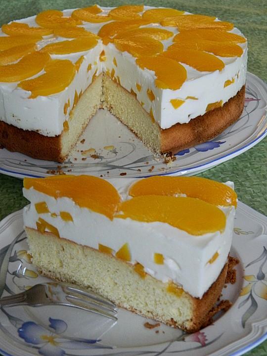 Pfirsich  Joghurt Torte mit Vanillehauch von Seelenschein  Chefkoch