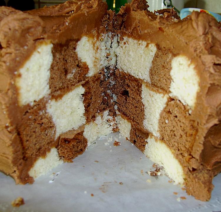 Kleine Schachbrett  Torte von Nicky0110  Chefkoch