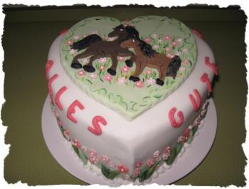 Ein Herz fr Pferde  fr meine Tochter zum Geburtstag