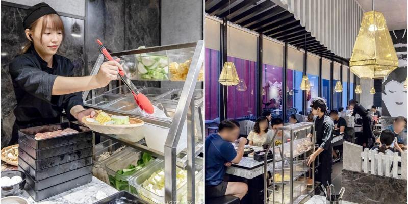 壽喜燒一丁國安店│來自台北的人氣吃到飽新開幕!最低不用400元,各式肉品、蔬菜、甜點、蛋糕與冰淇淋任你吃到飽~