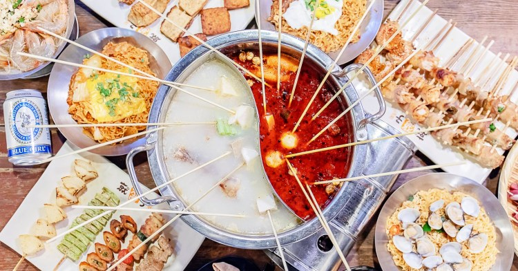 就醬子烤吧│半夜也能享用美味串串香!中部限定版鴛鴦辣串燙,每串最低只要4塊錢!