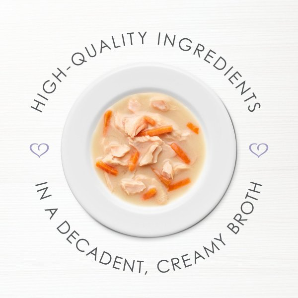 Fancy Feast Creamy Broths with Wild Salmon Whitefish