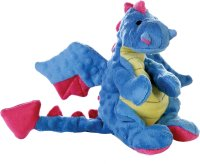 GoDog Dragons Chew Guard Dog Toy, Periwinkle, Large