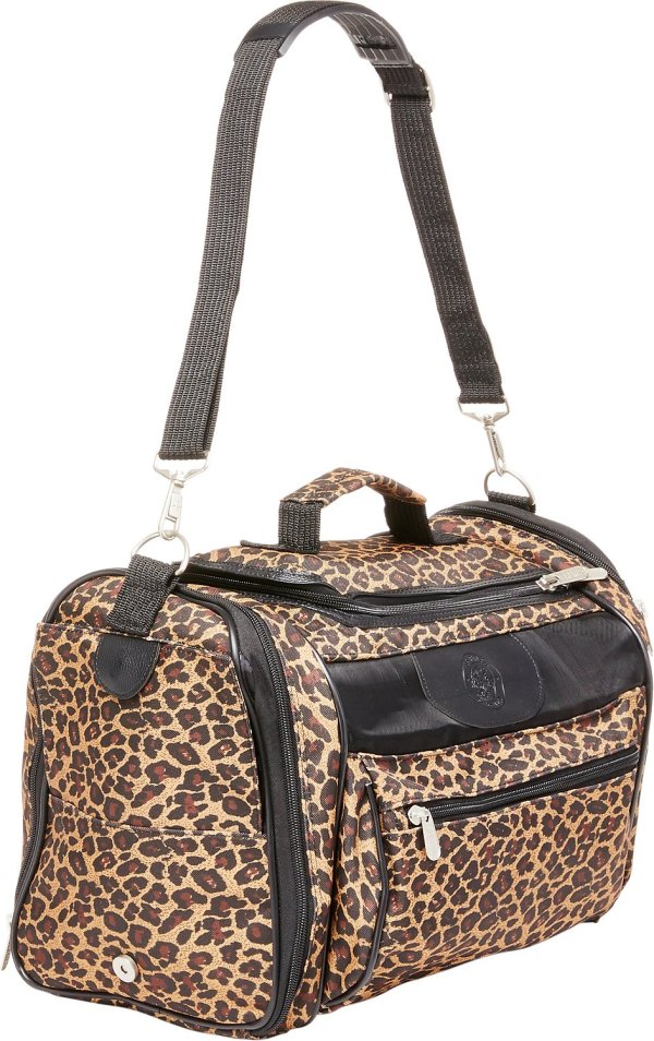 Sherpa Cat Tote Pet Carrier Leopard Print