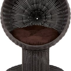 Wicker Chair For Sale Patio Sling Replacement Fabric The Refined Feline Kitty Ball Cat Bed, Espresso - Chewy.com