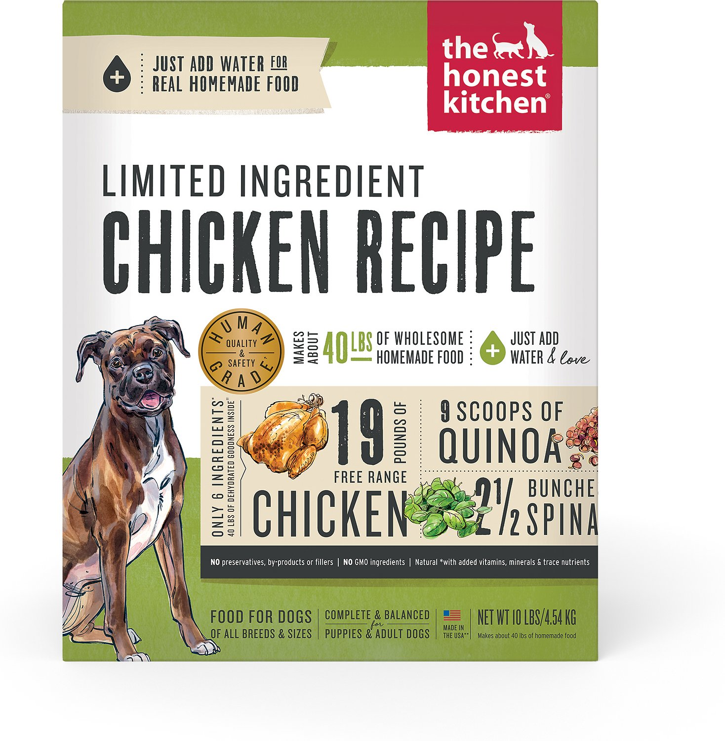 honest kitchen dog food reviews metal table the thrive dehydrated 10 lb box