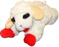 Multipet Lamb Chop Plush Dog Toy, Regular