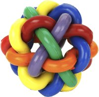 Multipet Nobbly Wobbly Ball Dog Toy, 4