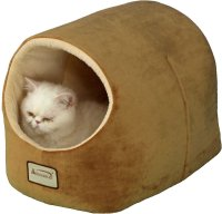 Armarkat Pet Bed Cave Shape, Brown/Ivory - Chewy.com