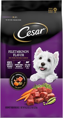 Little Caesars Puppy Food : little, caesars, puppy, CESAR, Filet, Mignon, Flavor, Spring, Vegetables, Garnish, Small, Breed, Food,, 2.7-lb, Chewy.com