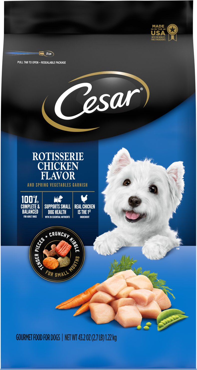 What Kind Of Dog Is The Cesar Dog : cesar, CESAR, Rotisserie, Chicken, Flavor, Spring, Vegetables, Garnish, Small, Breed, Food,, 2.7-lb, Chewy.com