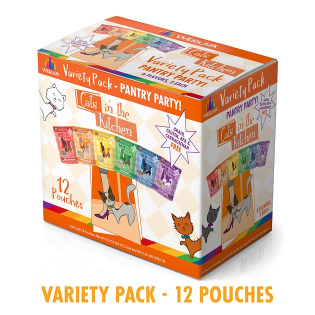 cats in the kitchen farmhouse hardware weruva variety pack grain free cat food pouches 3 oz case of 12 chewy com