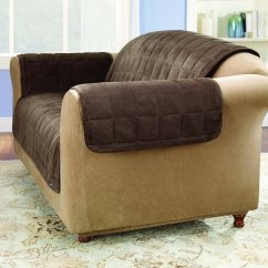Horse Sofa Slipcovers Scs Storm Brown Sure Fit Deluxe Loveseat Cover Sable Chewy