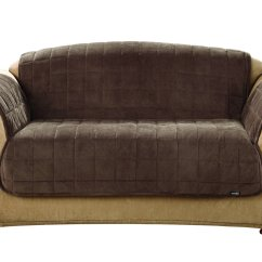 Horse Sofa Slipcovers Elliot Bed Sure Fit Deluxe Loveseat Cover Chocolate Chewy